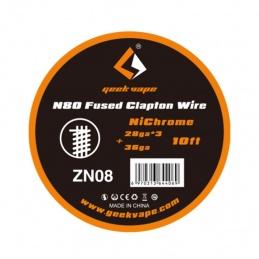 Drut GEEKVAPE N80 Fused Clapton Wire 28ga*3+36ga 3m ZN08 - 1 -  - 34,99zł
